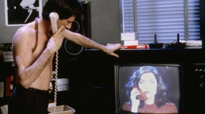 Frame from Videodrome 1983, David Cronenberg